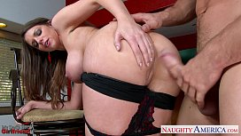 Chesty brunette gf Brooklyn Chase gets nailed xxx video