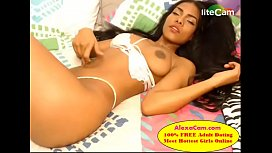 Desi mix British teen doing cam to cam when nobody at home alone