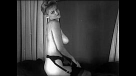 Vintage Cute Blonde Striptease image