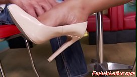 Ebony goddess footworshiped and...