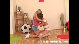 Two hot teens get...