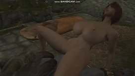 [Skyrim] Yuriana lets the Rieklings fuck her
