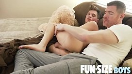 FunSizeBoys - Giant cock stuffs tiny guy bareback and shoots big load