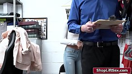Blonde babe is punished by horny officer