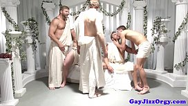 Gay group orgy dudes...