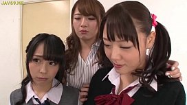 Asian Schoolgirls Seduce Classmate...