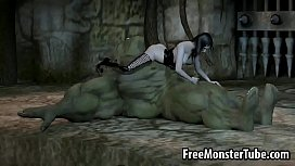 3D orc getting fucked...