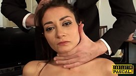 Smalltit UK submissive gets...