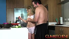 CUM KITCHEN: Sexy Blonde...