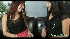 Husband and wife fuck the babysitter 468