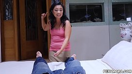 Asian stepmom Lucky Starr knows how to comfort her stepson.She gave him a hot blowjob then rides on his big cock and they both enjoyed an awesome sex.
