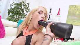 FitXXX Sandy intense 5on1 fuck session with DP &amp_ DAP SZ2420