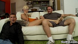 Tiny blonde babe Kleio Valentien is chilling with her horny friends then they decided to start a hot 3some session.