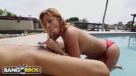 BANGBROS - Playing With Puerto Rican MILF Jazmyn'_s Fun Bags By The Pool
