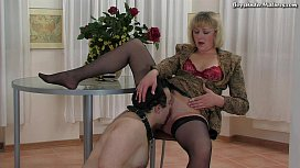 Blonde Mature Mom with...