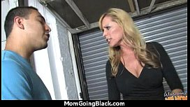 Mature Mom barely takes 10 inch Black Cock 15