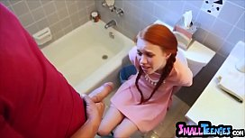 Tiny redhead stuck on...
