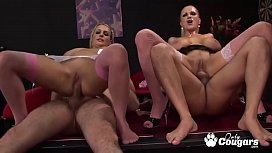 Three Horny Britsh Cougars With Huge Boobies Has An Orgy To Get Pregnant