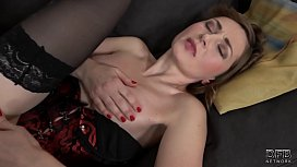 Moaning babe first time fucking black man has orgasm takes deep fucking and cum