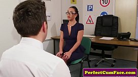UK nurse tugging in office before facial