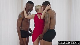 BLACKED Housewife Fucks Two...