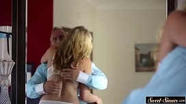 Hairy stepdaughter banged passionately...