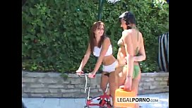 Two Hot Girls Playing Outside With Toys BP-1-02