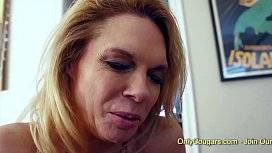 Cougar Enjoys A Double Helping Of Sweet Teen Pussy Pie - Lesbian Threesome