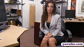 Hot babe convinced to fuck with pawn man