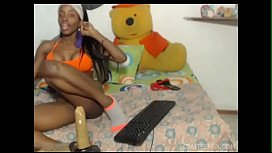 Ebony amateur squirts and...