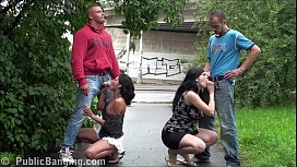 Public group sex orgy with a pregnant woman, right in the middle of a street despite all people walking down the street and watching them fucking. right in the middle of a street despite all the people walking down the street and watching them fucking.