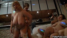 Blonde fatty is fucked...