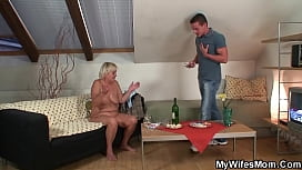 Party leads to old m. in law taboo fucking