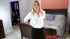 Big breasted mommy gives an unforgettable dick suck in POV