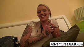 Blonde babe gets fucked...