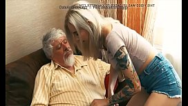 Old and y. Blonde Fucked by Old man tight pussy cock
