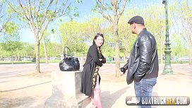 Hot Mylene Johnson has Hardcore Public Sex in Paris xnxx image