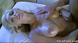 Sexy Blonde Gets Oily...