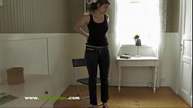 Brune girl spanked and...