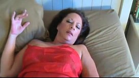 Horny mommy show anal...