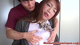 Cocksucking ladyboy gets her...