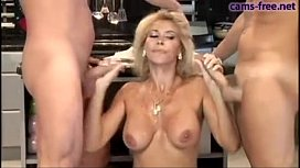 Gorgeous italian blonde MILF...