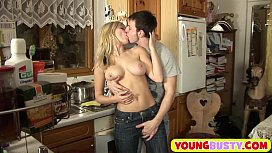 Busty Young Blondie Fucked In The Ass