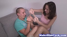 Beautiful exgf cuckolds her...