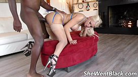 Busty Blonde Hairy Teen Fucked By Black Cock