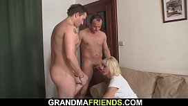 Sexy blonde woman double penetration
