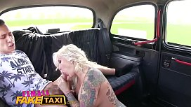 FemaleFakeTaxi Busty blonde fucked and facialised by studs big cock