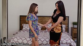GirlfriendsFilms MILF Mindy Helps Teen Relax in Bath and Bedroom!