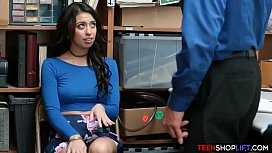 Shoplifting teen whore caught...