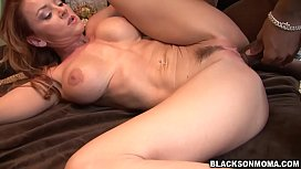 Sexy MILF Janet Mason interracial group fuck